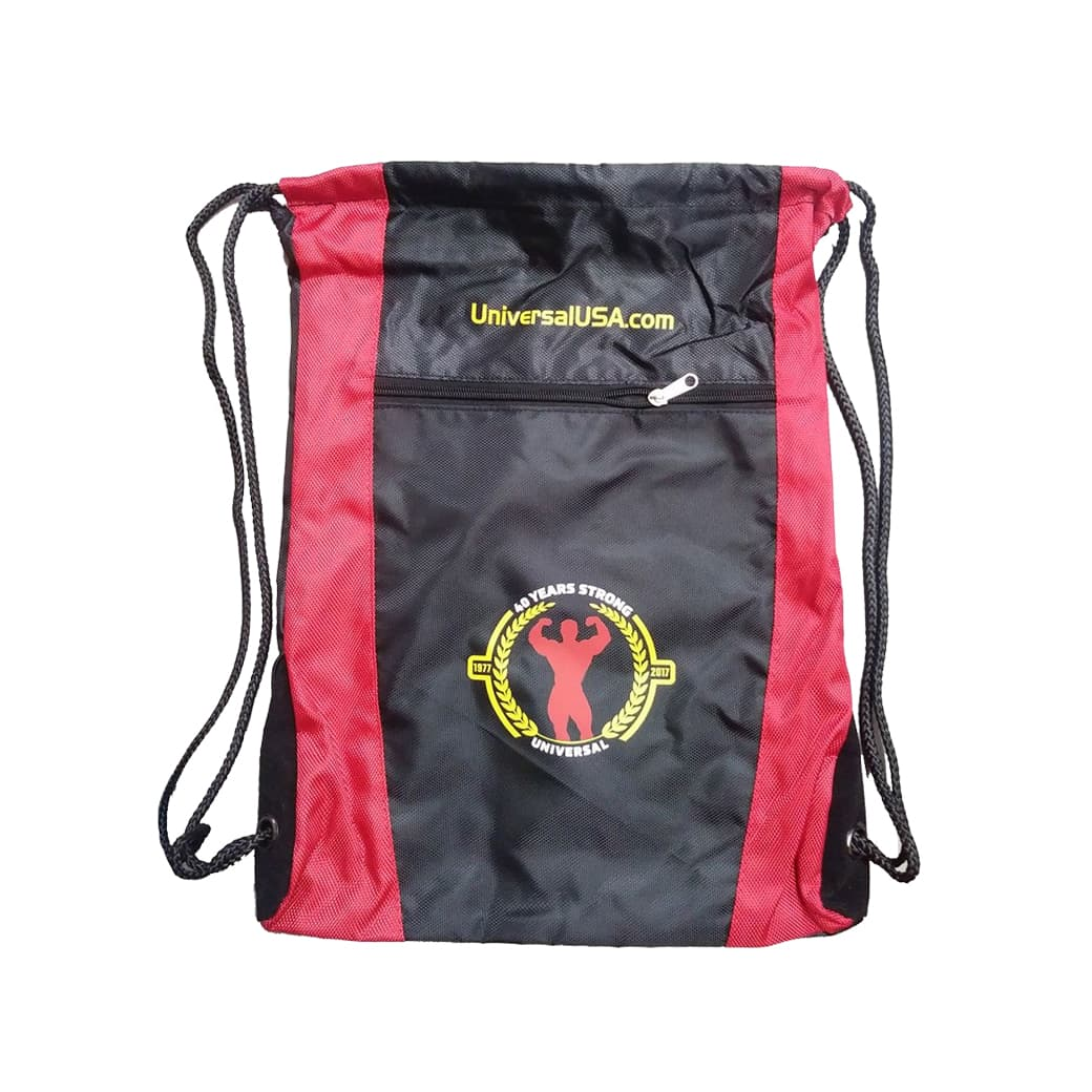Universal Red-black Drawsting Bag