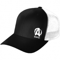 Animal Black & White Flexfit Cap Freesize