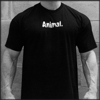 Animal T-Shirt Black Animal Logo Black