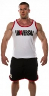 Univ Signature Tank White&Red White